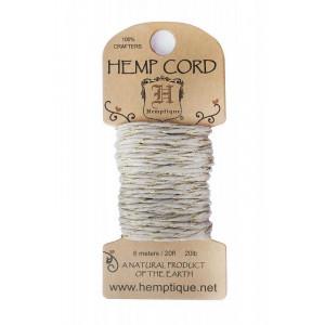 Шнур Конопляный Hemp Cord Natural+Metallic