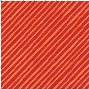 Ткань Bias Stripe Red / Orange Loralie Designs