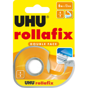 Клеящая лента двусторонняя Rollafix Double Face UHU, 6м*12 мм