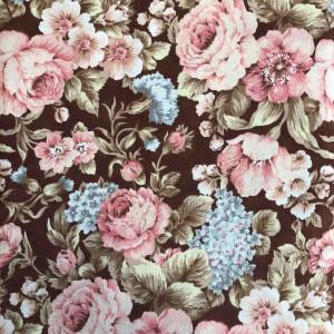Ткань Roses Brown