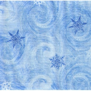 Ткань Winter Snowflakes Timeless Treasures