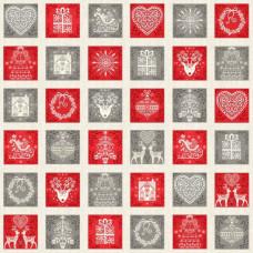 Ткань Scandi 2019 Scandi Squares Multi, Makower