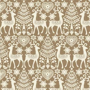Ткань Reindeer Scandi 3 Makower