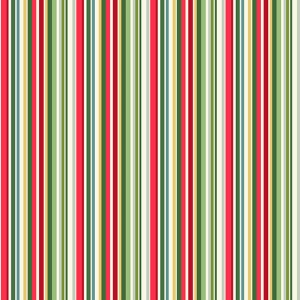 Ткань Yuletide Straight Stripe Multi Makower UK