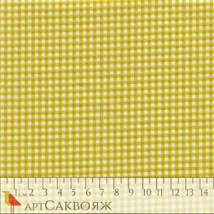 Ткань Gingham Kiwi Makower