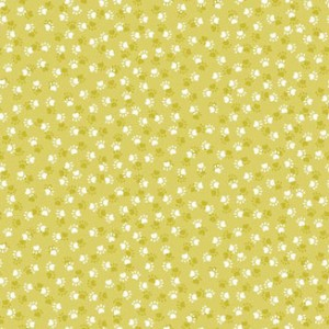 Ткань Kitty Paws Yellow Makower UK