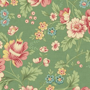 Ткань The Seamstress Dahlia Fern Makower UK