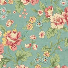Ткань The Seamstress Dahlia Turquoise Makower UK
