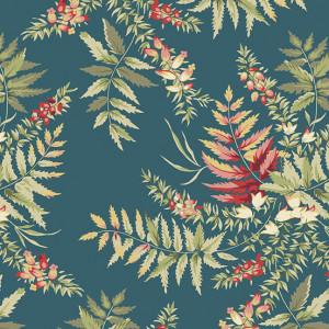Ткань The Seamstress Fern Indigo Makower UK