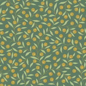 Ткань The Seamstress Thimble Spruce Makower UK