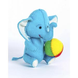 Набор для изготовления игрушки из фетра Слоник