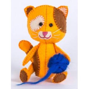 Набор для изготовления игрушки из фетра Котёнок Рыжик