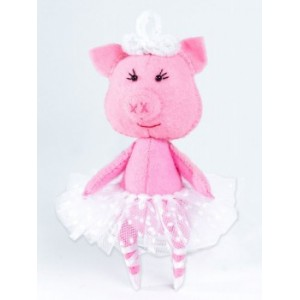 Набор для изготовления игрушки из фетра Свинка Балеринка