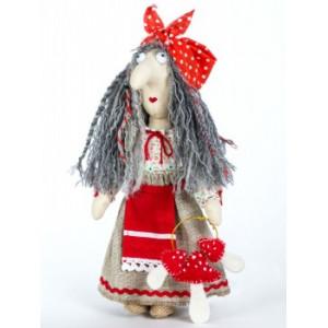 Набор для шитья текстильной куклы Баба Яга