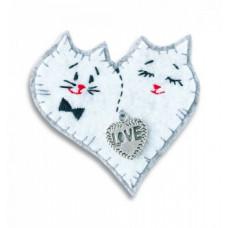 Набор для изготовления брошки из фетра Брошка Коты