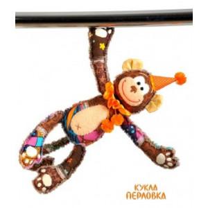 Набор для шитья текстильной игрушки с магнитами Обезьянка Анфиса