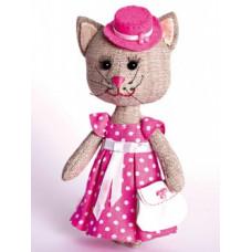 Набор для шитья текстильной игрушки Тётя Кошка