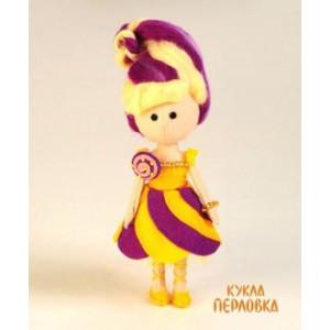 Набор для шитья куклы из фетра Карамелька