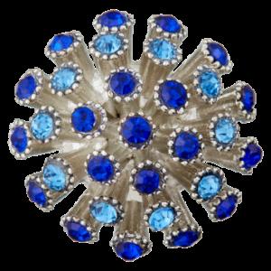Пуговица шубная Metal Blue 25 мм