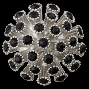 Пуговица шубная Metal Black 25 мм