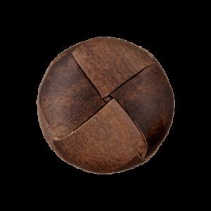 Пуговица на ножке Leather Recycled 23 мм