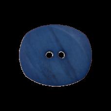 Пуговица Two-Hole Blue 23 мм