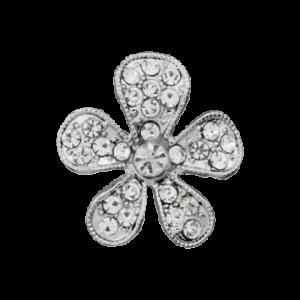 Пуговица шубная Metal Silver 25 мм