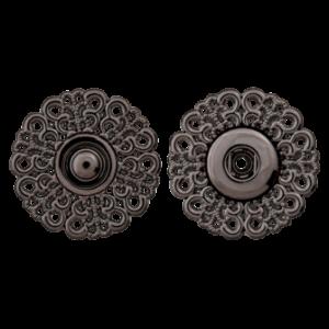 Пуговица-кнопка Metal Silver 25 мм