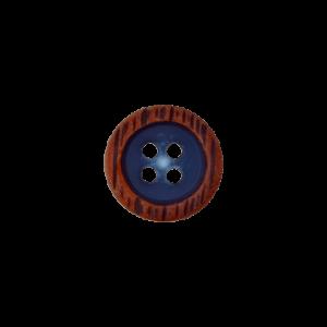 Пуговица Four-Hole Blue 11 мм