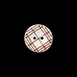 Пуговица Two-Hole Wood White 12 мм