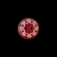 Пуговица Two-Hole Wood Red 12 мм