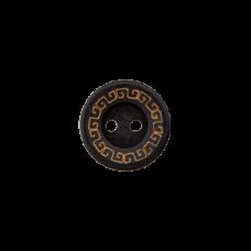 Пуговица Two-Hole Wood Black 12 мм