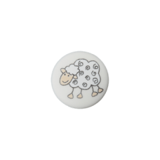 Пуговица на ножке Sheep White 15 мм
