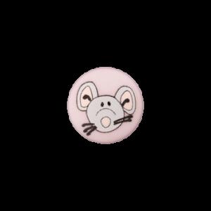 Пуговица на ножке Mouse Rose 12 мм