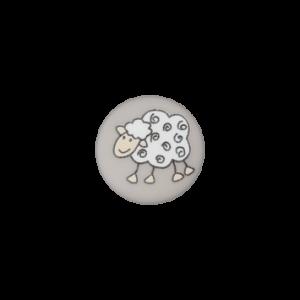 Пуговица на ножке Sheep Grey 15 мм