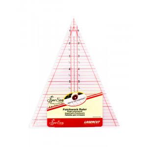 """Линейка-треугольник с углом 45*, градация в дюймах, размер 8 1/2""""X7"""" Hemline"""