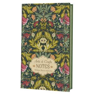 Блокнот Arts&Crafts Notes William Morris Inspiration (зеленая с розовыми цветами)