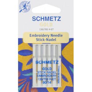 Иглы Schmetz для вышивки Gold  130/705H-ET №90(5)