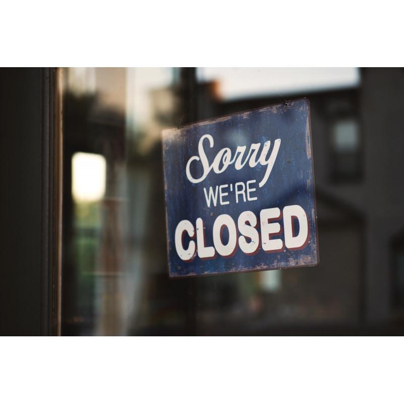 Про закрытие магазина и о графике работы в праздничные дни