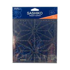 """Шаблон для вышивки Сашико """"Лист конопли"""" Hemline"""