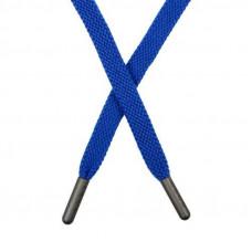 Шнур плоский хлопок 1 *135см с наконечником синий