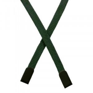 Шнур плоский хлопковый 0,8*135 см, с наконечником, изумрудный