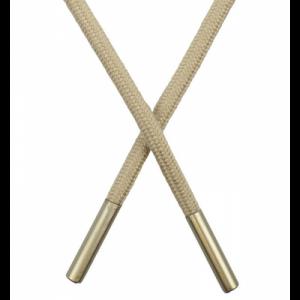 Шнур круглый поликоттон 0,5*145см с наконечником холодный бежевый