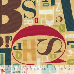 Ткань Social Club Alphabet Moda Fabrics