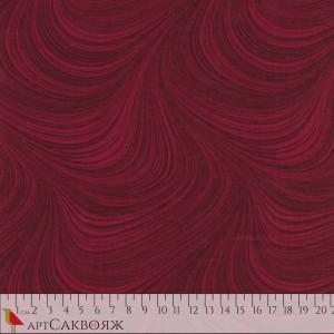 Ткань Wave Texture Wine Red Benartex