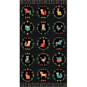 Ткань Animal Panel Makower UK