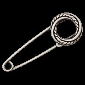 Декоративная булавка Metal Silver Union Knopf