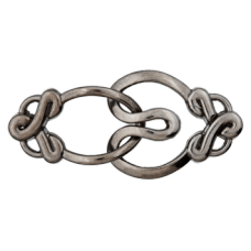 Застежка Metal Dark Silver Union Knopf