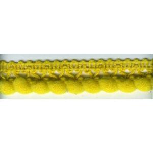 Тесьма с помпонами однорядная 5мм ЯИЧНО-ЖЕЛТАЯ