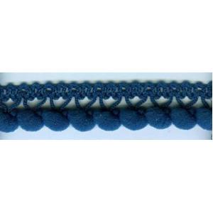 Тесьма с помпонами однорядная 5мм цвета МОРСКОЙ ВОЛНЫ
